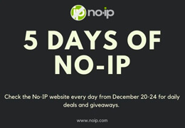 5 Days of No-IP - Holiday Sales and Giveaways